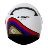 Capacete LS2 FF353 Rapid Stark - White/Red/Blue/Gold Tamanho (62)