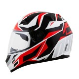 Capacete NoRisk FF391 Cutting - White/Black/Red/Silver - Tamanho (58)